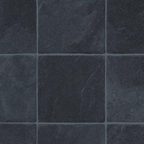 extra thick vinyl flooring black dark tile effect