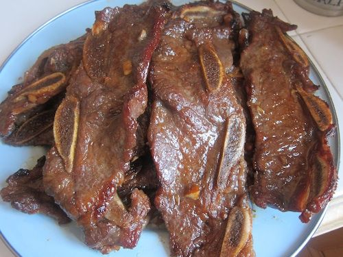 Kalbi, Korean Barbecued Beef Short Ribs