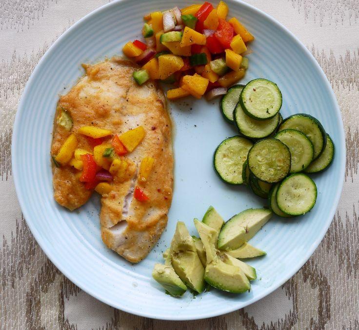 Sweet Orange Tilapia with Mango Salsa (Paleo) | Perchance to Cook...