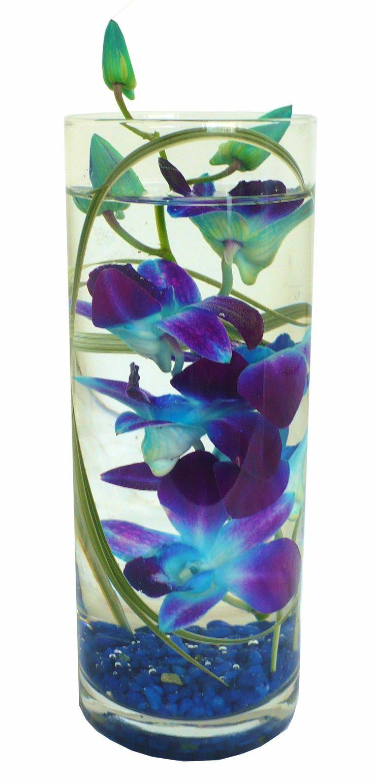 Blue orchid centerpiece love the arts pinterest