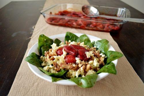 roasted strawberry quinoa salad | Good Eats | Pinterest