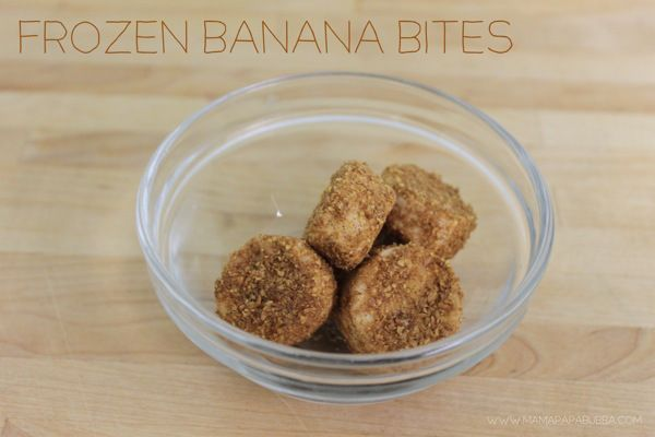 Frozen Banana Bites | food for kids | Pinterest