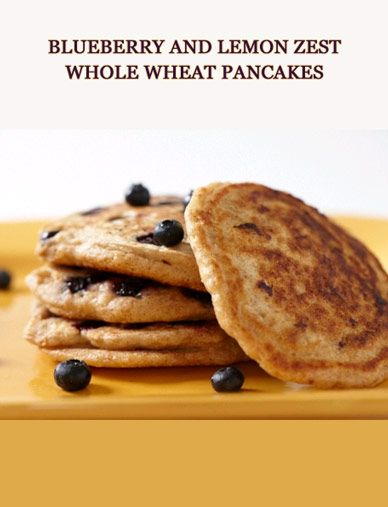 Blueberry and Lemon Zest Whole Wheat Pancakes | Desserts Garden