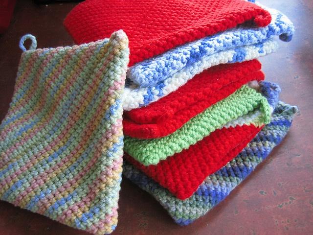 Best Knitting Pattern Holder : folded potholder pattern