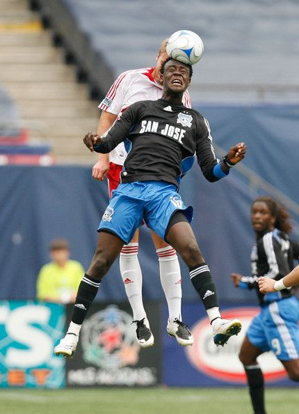 Kei Kamara, a Sporting KC fan fave, was once with San Jose and demonstrates his heading abilities here