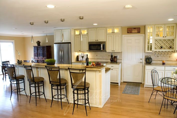 cream kitchen cabinets  Kitchens  Pinterest