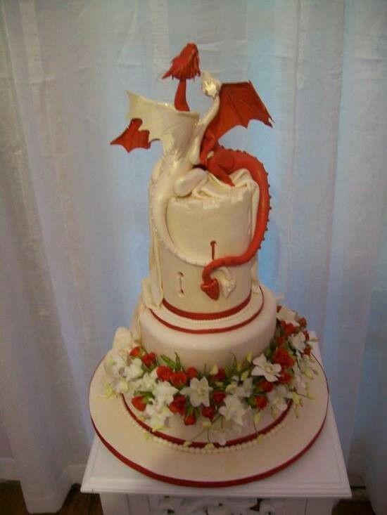 Awesome dragon wedding cake