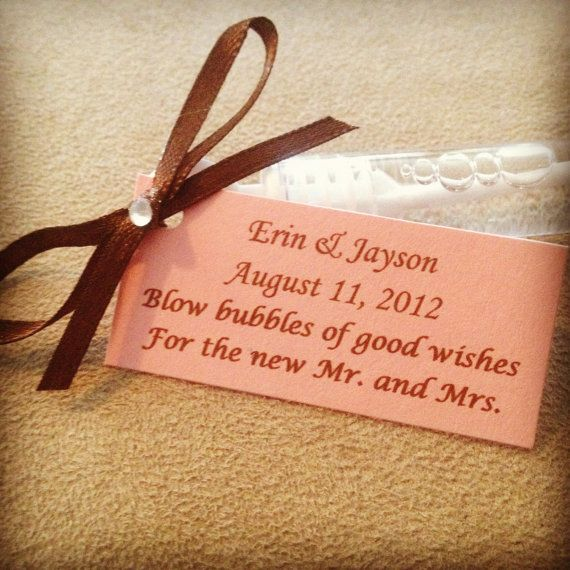 personalized wedding bubble wands | 100 Bubble Wands with Custom Tag ...