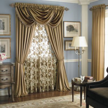 Dining room curtains les 39 place pinterest for Jcpenney living room curtains