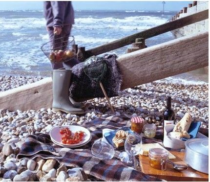piquenique à beira-mar
