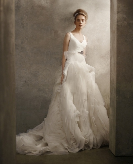 Ball Gown Wedding Dresses By Vera Wang : Vera wang v neck ball gown bridal evening wear more