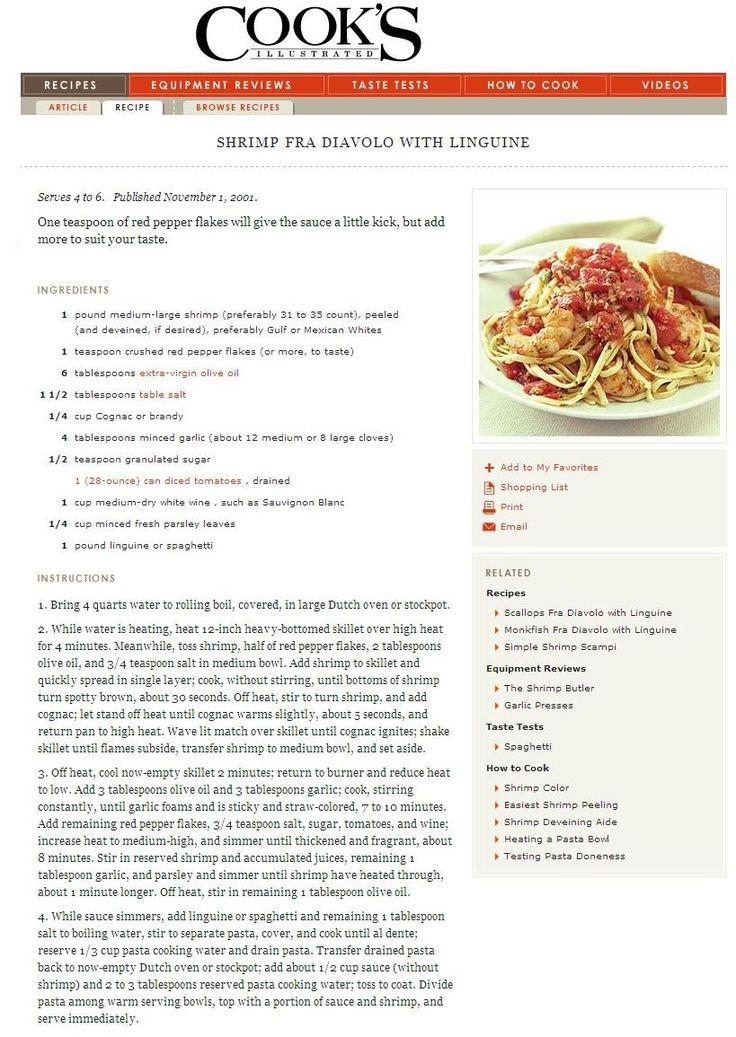 shrimp fra diavolo with linguine | Gastronomer | Pinterest