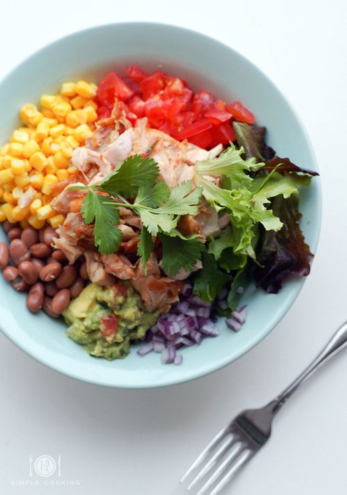 CHICKEN BURRITO BOWL | Healthy | Pinterest