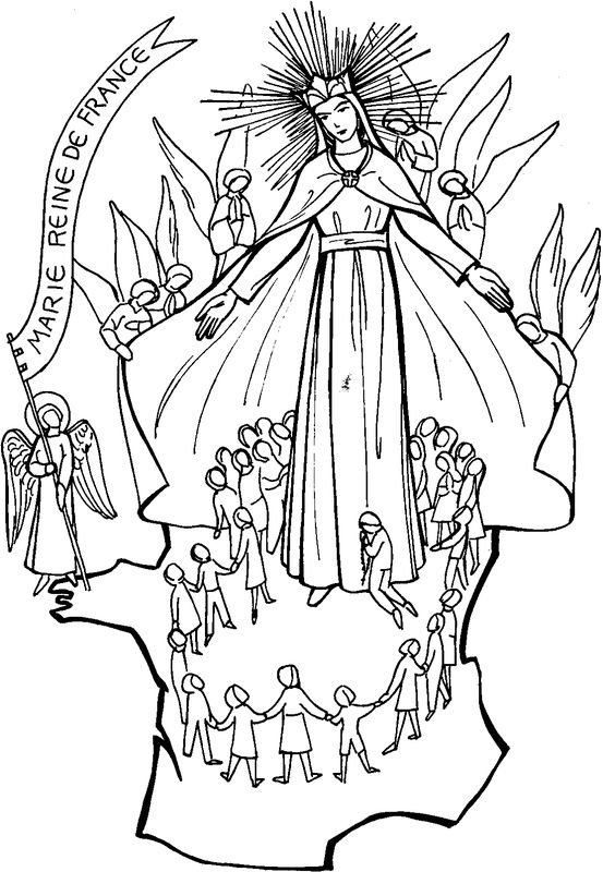 coloring pages catholic virgin mary - photo#39