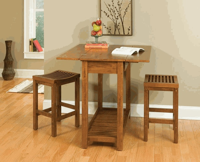Expandable bar-height console dining table (laundry)