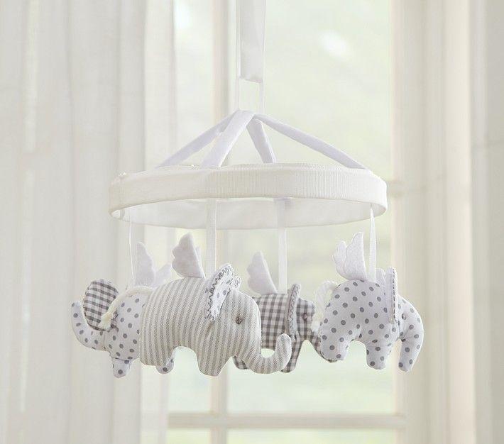 Elephant Mobile Above Crib