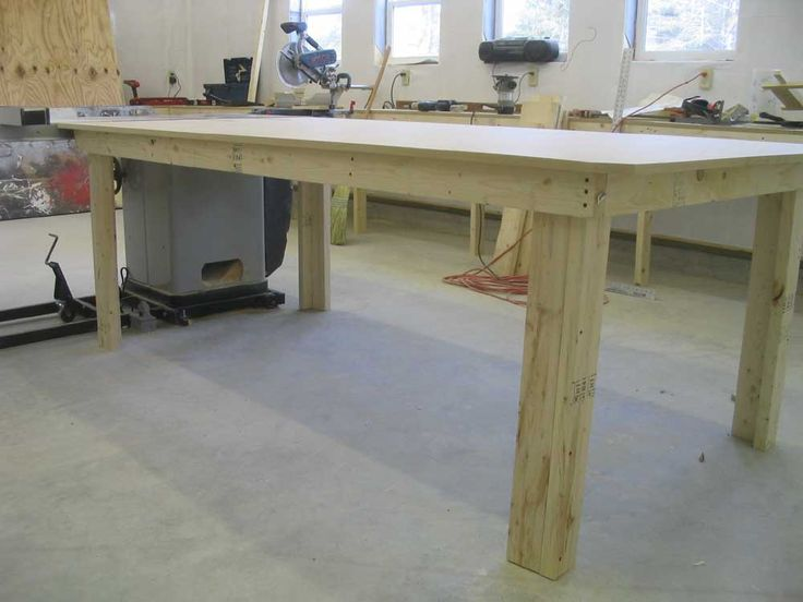 2x4 table the garden pinterest for Dining room table 2x4