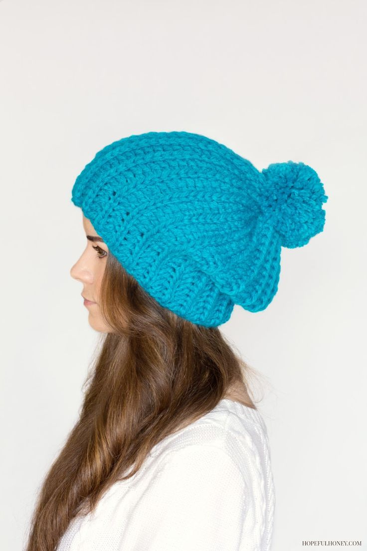 French Crochet Patterns : Hopeful Honey: French Pompom Beret Crochet Pattern by Olivia Kent.