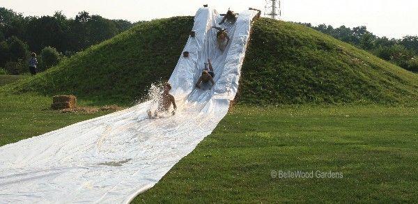 Backyard Hill Slide : Fun backyard Slipnslide  Before I die  Pinterest