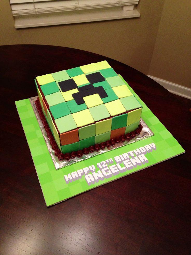 Homemade Minecraft Creeper Cake Ideas And Designs