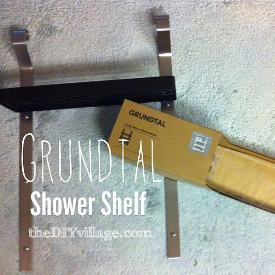 Attach Ikea Island To Floor ~ GRUNDTAL Shower Shelf (IKEA hack)