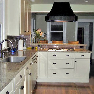 Pin by emily heller on kitchen remodel pinterest for White kitchen cabinets with oil rubbed bronze hardware