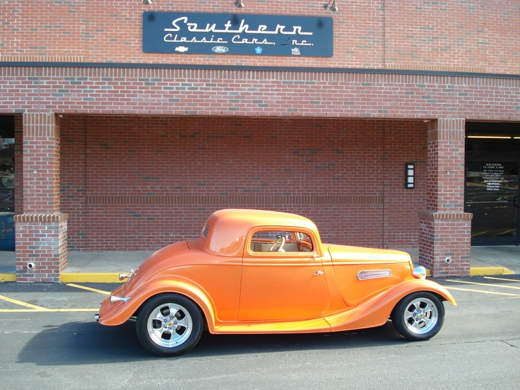 Gorgeous 1934 ford coupe 3 window orange pinterest for 1934 ford 3 window coupe custom