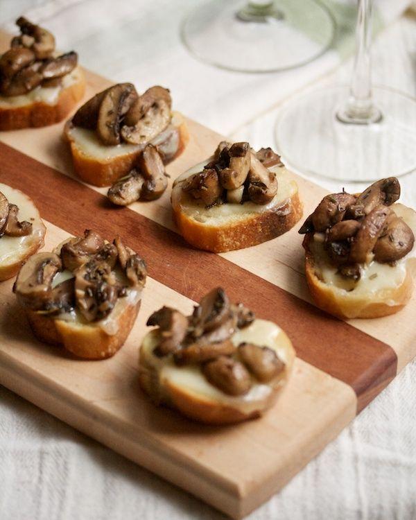 Cheesy Mushroom Crostini from Big Girls Small Kitchen
