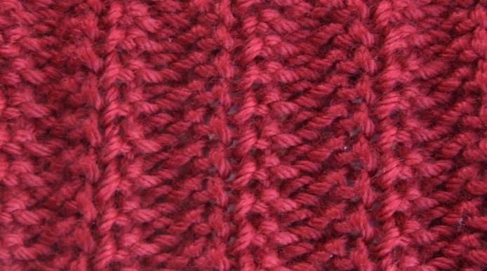 Вязание спицами резинка 1x1 73