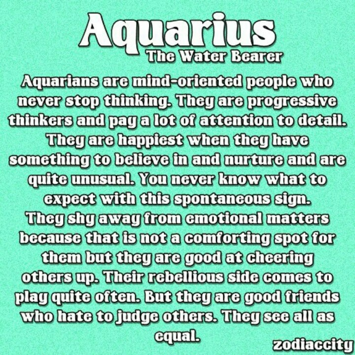The gallery for --> Aquarius Qualities And Characteristics