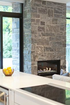indoor outdoor stone fireplace dream home pinterest