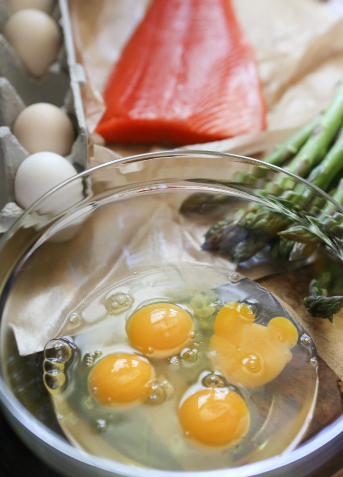 Grilled Salmon and Asparagus Frittata | Paleo | Pinterest