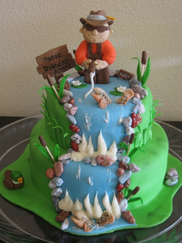 Cake Decorating Fishing Cakes Pinterest
