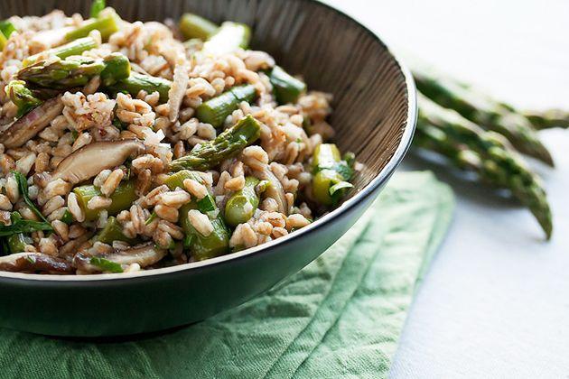 Spring Farro Salad with Asparagus and Shiitake Mushrooms | Recipe