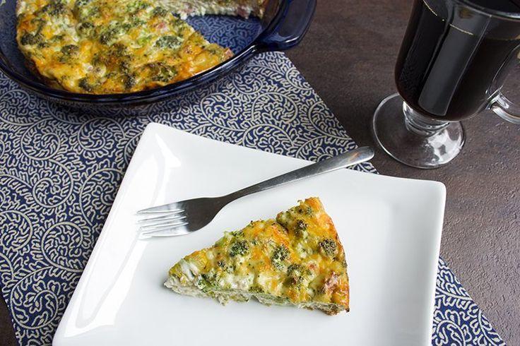 Skinny Crustless Quiche | Breakfast Chow | Pinterest