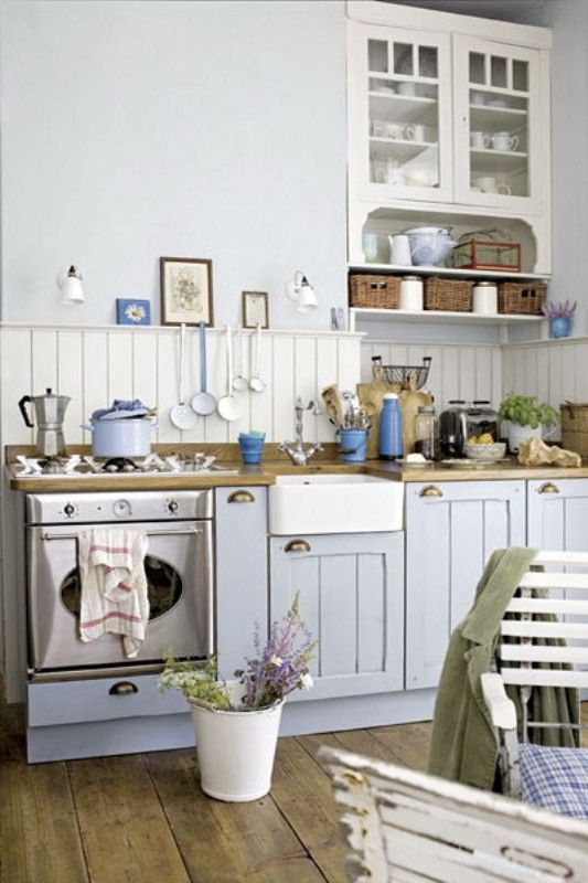 Baby blue kitchen - next home?