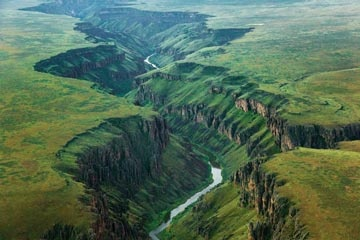National Geographic features aerial photographs made by Michael Melford of Idaho's Owyhee River Wilderness.