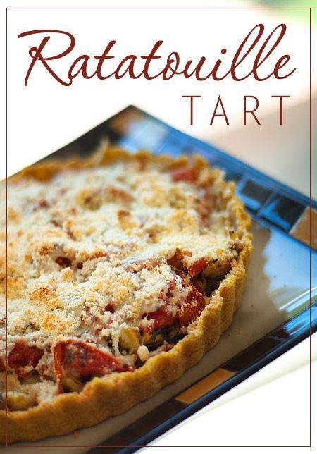 Roasted Ratatouille Tart (ChinDeep)   Vegetable recipes   Pinterest