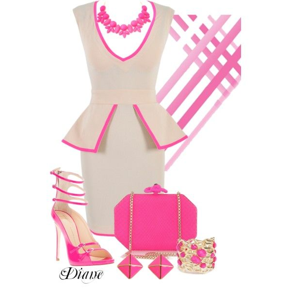 """Pretty in Pink"" by diane-shelton on Polyvore"