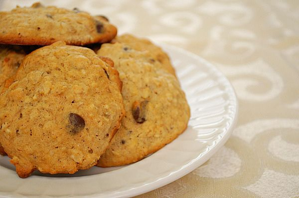 Banana Chocolate Chip Cookies. These turned out really good. :) I didn ...