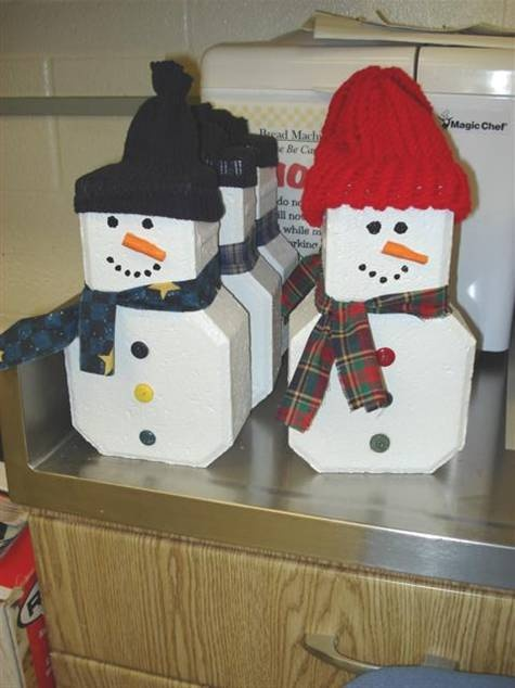 snowman pavers | Winter Crafts | Pinterest