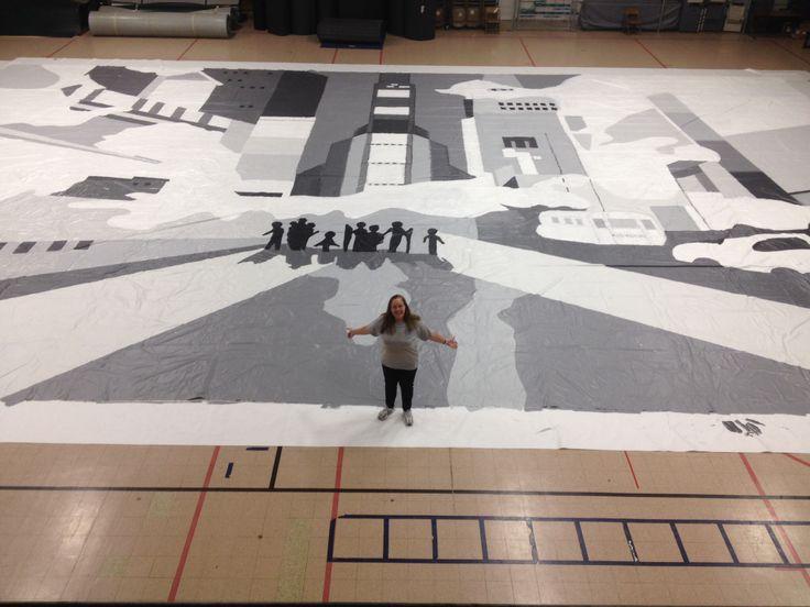 Clemmons nc winterguard 2014 winter guard floor designs for Winterguard floors