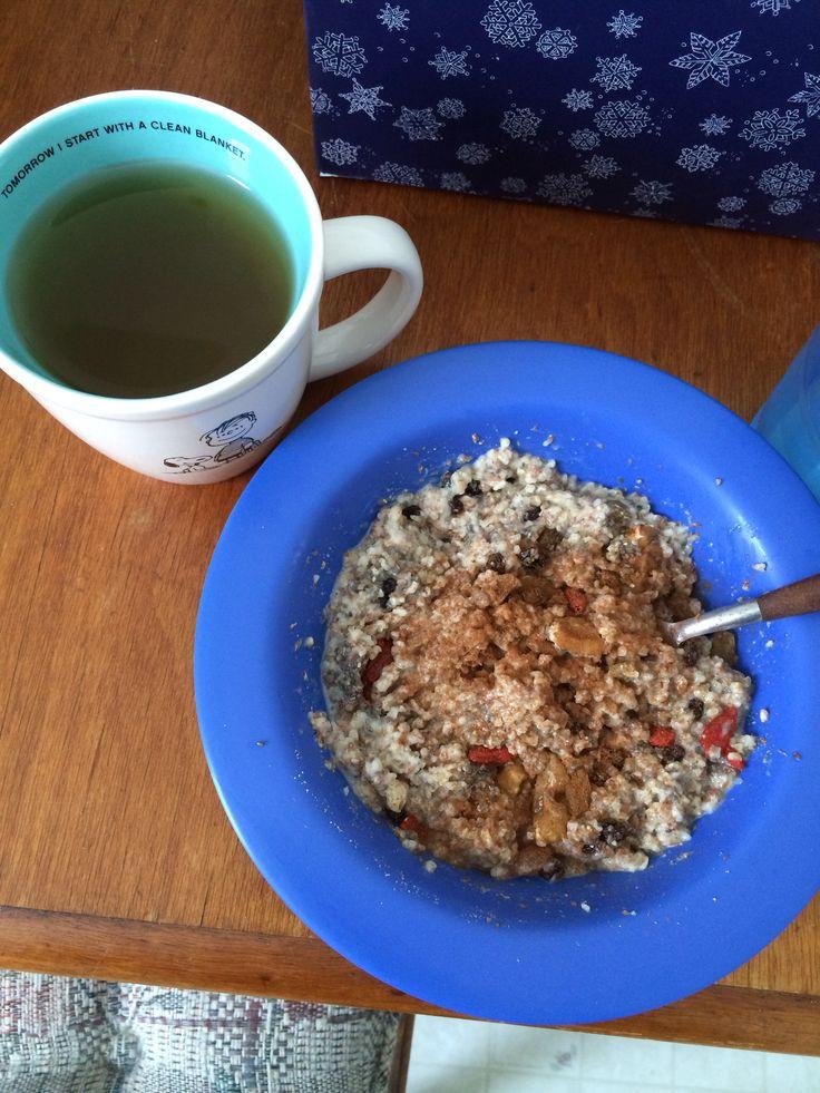 cup Steel cut Irish oats -3/4 cup water -2 tablespoons flaxseed ...