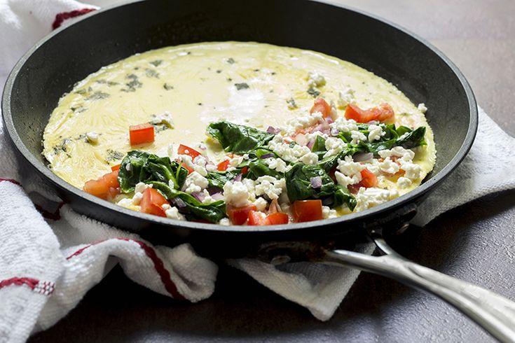 Skinny Greek Omelet | Eggs and Meatless main dishes | Pinterest