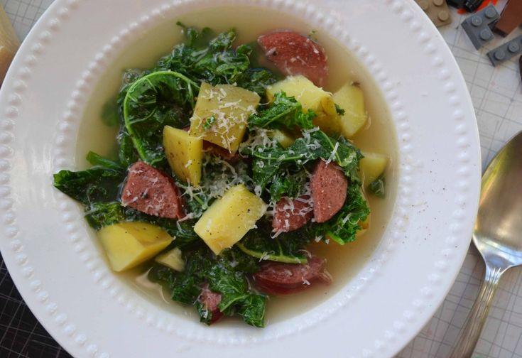 Portuguese Sausage, Kale and Potato Soup