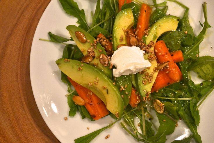carrot avocado salad | food to start the meal | Pinterest
