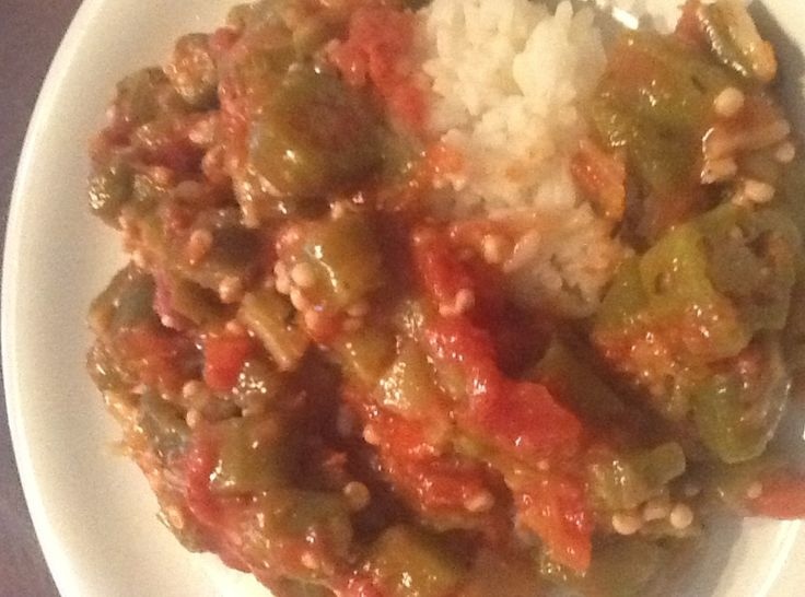 Smothered Okra & Tomatoes | Meals | Pinterest