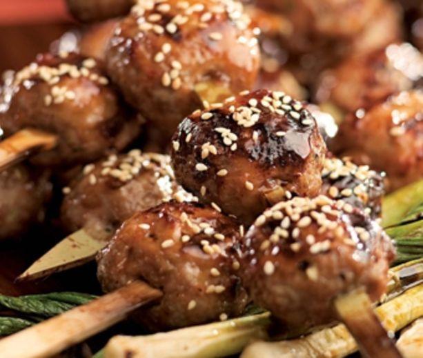 ... tsukune chicken meatballs at や き とり 藤巻 tsukune chicken