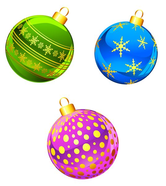 Transparent Christmas Ornaments Clipart | Dec. - Christmas / Winter C ...