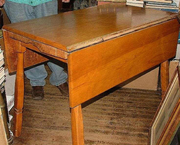 vintage 1950s solid rock maple drop leaf kitchen table